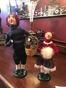 Lot Of 2 Byers Choice Carolers 1995 And 1998