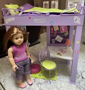 American Girl Mckenna Doll, Mckenna's Loft Bed, Accessories And Gym Bag Contents