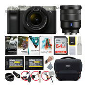Sony Alpha A7c Mirrorless Camera Silver Bundle With Fe 28-60mm And 16-35mm Lens