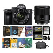 Sony Alpha A7 Iii Full Frame Mirrorless Camera With 28-70mm And 35mm Lens Bundle