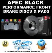 Apec Black Performance Front Discs And Pads Set For Bmw 3 F30 F80 318d 2012-2015