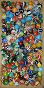 Antique And Vintage Marbles Peltier Akro Agate Cac Alley Vitro And More Lot Of 10