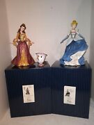Disney Showcase Couture De Force Belle With Chip Ornament And Cinderella Figures