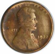 1922-pl Lincoln Cent Strong Reverse No D F Uncertified