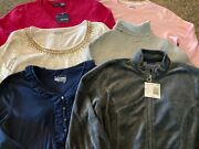 Womenand039s 6-piece Nwt Basic Editions Tops Size Small Variety