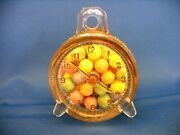 Antique Clear Glass And Tin Toy Alarm Clock Candy Container Circa 1916