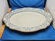 Rare Antique Wedgwood Flow Blue On White Oval Platter In Excellent Condition