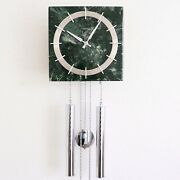 Junghans Vintage Wall Clock Chrome Rare Loudspeaker Chime Special 1960s Germany