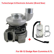 Turbocharger And Electronic Actuator Fits Dodge Ram 2500 3500 6.7l Diesel He351ve