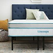 Linenspa 12inch Memory Foam And Innerspring Hybrid Mattress With Linenspa 14inch