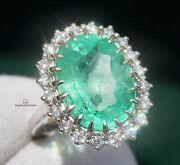 Emerald Ring Gold Diamond Colombian Natural 8.71ct Gia Certified Retail 28700