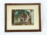 Albert Corck Framed Print Of Farmhouse With Water Pump - 17 X 13 1/2