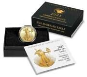 2021-w 1/2 American Eagle One-half Ounce Gold Proof Coin 21ecn Type 2