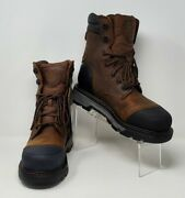 Justin Vibram Commander Waterproof Boots Menand039s Sisize 9d Comp Toe Style Wk260 Pr