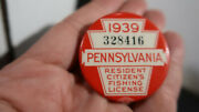 1939 Pennsylvania Resident Fishing License With Paper Work 328416