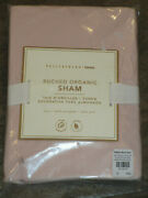 Pottery Barn Teen Ruched Powdered Blush Pink Euro Pillow Sham New