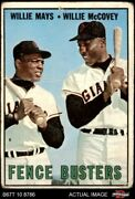1967 Topps 423 Willie Mays / Willie Mccovey - Fence Busters Giants 1 - Poor