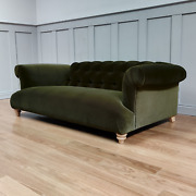 Aggy Large Two And Three Seater Fern Cotton Velvet Sofa New Rrp Andpound2299