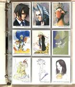 Final Fantasy Art Museum Trading Card Set With Binder Square Enix Ff Game