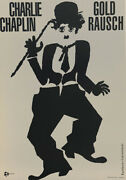 Gold Rausch Charlie Chaplin Vintage Movie Poster Hand Pulled Fine Art Lithograph