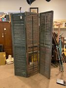 Antique Room Divider Shutter Screen Privacy Folding Americana 80.5x52 Chippy