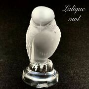 Antiques R.lalique Rene Lalic /glass Products/falcons Owl Bird/paperweight