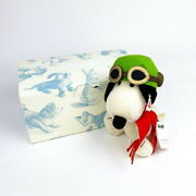 Steiff Snoopy Flying Ace Stuffed Toy Handmade Limited Peanuts Collectible Toy