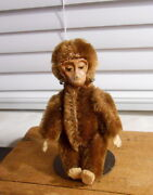 Vintage Schuco Monkey- Germany - Mohair- Metal Face