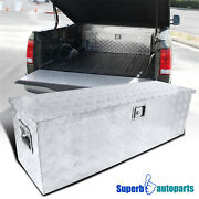 44x15 X15 Pickup Truck Rv Tool Box Storage Under Bed Trailer W/ Lock And Handle