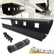 No Drill Under Desk Cable Management Tray Pack Of 2, Black, Tape Or Screws Mou