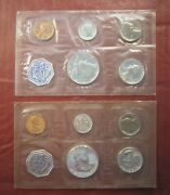 1961 And 1964 Us Proof Sets Orginal Cello - 1c-50c - 90 Silver Ships Free