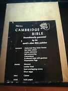 Cambridge Cameo Bible King James Red Letter Morocco Leather Lined Blue 77xrl