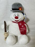 Build A Bear Frosty The Snowman 18 Light Up Plush Magic Hat And Broom W/tags