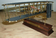 Franklin Mint 1903 Wright Flyer Golden Series Model With Stand 90th Anniversary