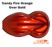 Candy Fire Orange Over Gold Basecoat Gallon Auto Paint Kit + High Solids Clears