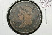 1811 Classic Head Large Cent Key Date Choice Good Detail