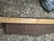 Antique Wood Cook Junipher Stove Cast Iron Parts Shelves Or Foot Pieces