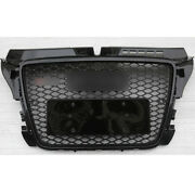 Rs3 Type Fit For Audi A3 S3 2009-2012 Grille Front Upper Honeycomb Bumper Grill