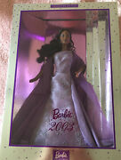 Rare Barbie 2003 Collector Edition Doll Purple Dress African American Nrfb