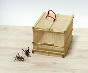 Japanese Traditional Crafts Bamboo Work Insect Bell Cricket 2set +cage Large Set