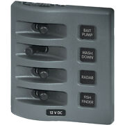 4305 Blue Sea 4305 Weatherdeck 12v Dc Waterproof Switch Panel 4 Posistion