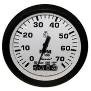 32950 Faria Euro White 4 Tachometer With Systemcheck Indicator 7000 Rpm Gas