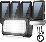 Solar Power Bank 26800mah Portable External Battery Charger 32 Led 3 In 1 Cable