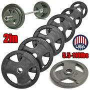 Fitness Pair Olympic Rubber Bumper Weight Plates Plate 11/22/33/44/55/110lbs