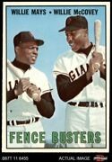 1967 Topps 423 Willie Mays / Willie Mccovey - Fence Busters Giants 5 - Ex