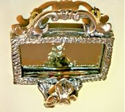 Victorian Sterling No Charming Broach W Tube Hinge, Handmade Safety Catch