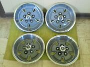 70 71 72 73 Ford Mustang Mag Hubcaps 14 Set 4 Wheel Covers 1970 1971 1972 1973