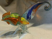 Vintage Murano Blown Glass Rooster Figurine