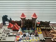 2004 Playmobil Knights Castle 3268 Geobra Huge Lot Good Cond. Unknown Complete