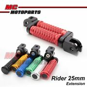 Cnc Mgrip Front 25mm Riser Foot Pegs Mout Fit Ducati Monster 750 Ie 1100 S Evo